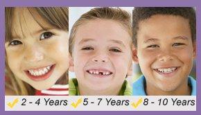 Children ages 2-10